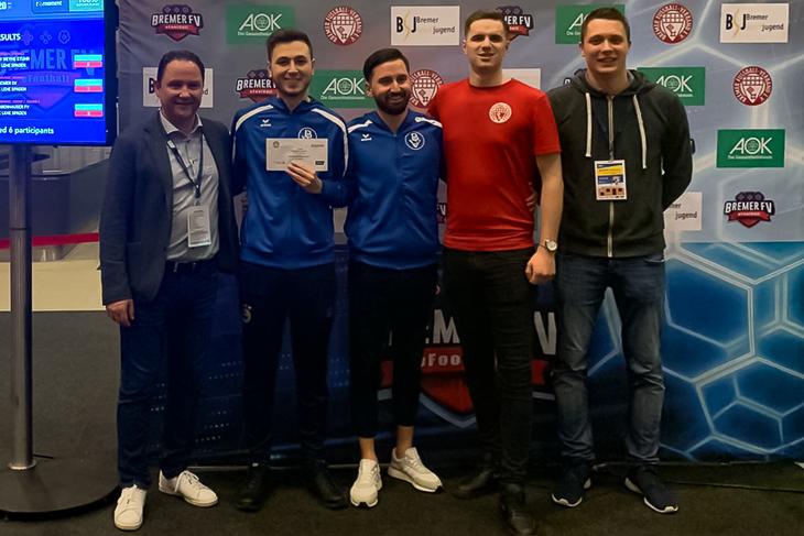 Der Bremer SV feierte den Sieg beim eFootball-Turnier. (Foto: privat)
