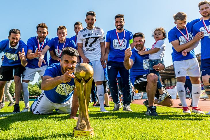 Bei den Männern wird der BSC Hastedt seinen Titel nicht verteidigen. Der amtierende Pokalsieger verabschiedete sich schon in der zweiten Runde aus dem Wettbewerb. (Foto: Dennis Gloth)