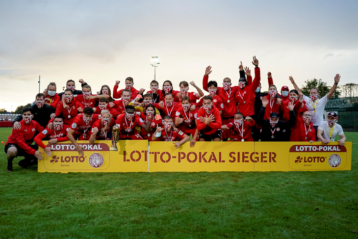 Jubel beim FC Oberneuland. (Foto: Sven Peter - spfoto.de)