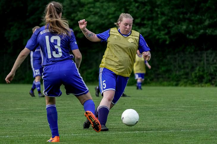 Ihre drei Treffer reichten nicht zum Sieg: Marina Schultz und die SG FC Huchting/Brinkumer SV mussten sich dem Blumenthaler SV geschlagen geben. (Foto: Sven Peter - SPFoto.de)