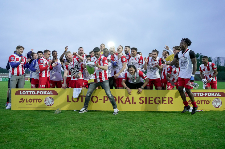 LOTTO-Pokal Sieger 2021: Der Bremer SV. (Foto: Sven Peter - SPFoto.de)