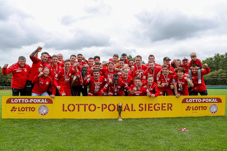 Sieger des LOTTO-Pokals der Männer ist der FC Oberneuland. (Foto: Sven Peter - spfoto.de)
