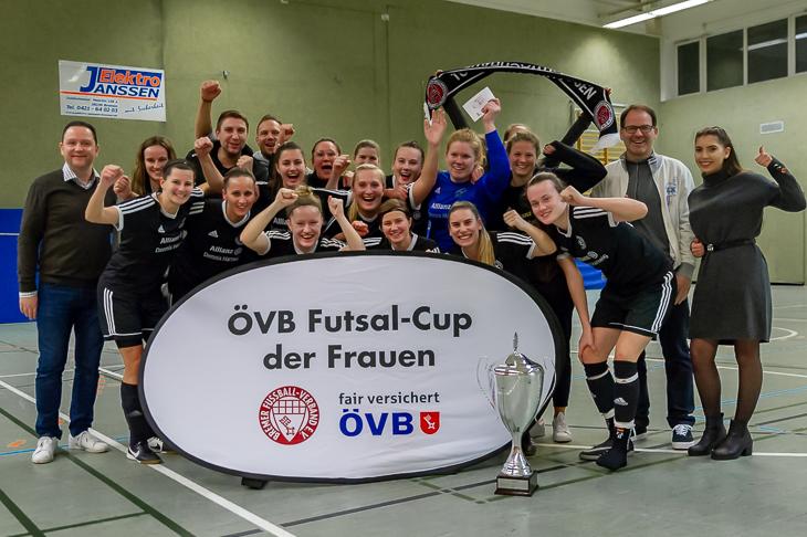 Titelverteidiger beim ÖVB Futsal-Cup der Frauen: Der TuS Schwachhausen. (Foto: Oliver Baumgart)