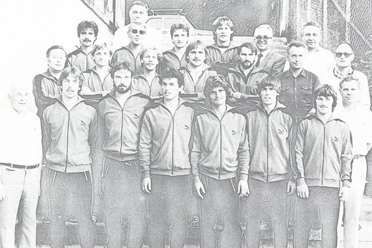 Die Bremer Landesauswahl in Danzig 1982. (Foto: Archiv)