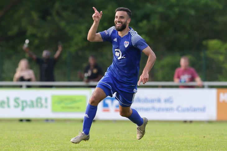 Ramien Safi will mit dem Brinkumer SV auch im Viertelfinale jubeln. (Foto: Oliver Baumgart)