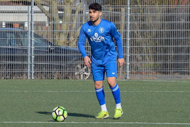 Moussa Alawie und der Bremer SV wollen in Vegesack dreifach Punkten. (Foto: Olaf Lücke)