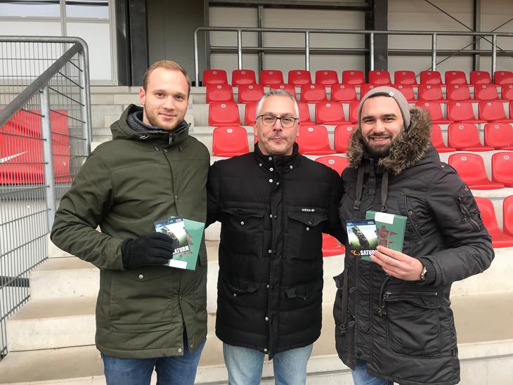 Maik Rowohlt (links), Jurij Zigon (mitte) und Atakan Karakoc (rechts). (Foto: Horst Kamm)