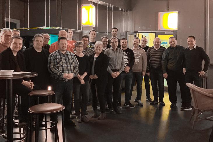 Der Stammtisch im neuen Domizil des Kreises Bremen-Nord war gut besucht. (Foto: privat)